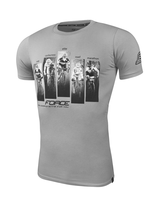 triko FORCE WORLD krátký rukáv, šedé XS