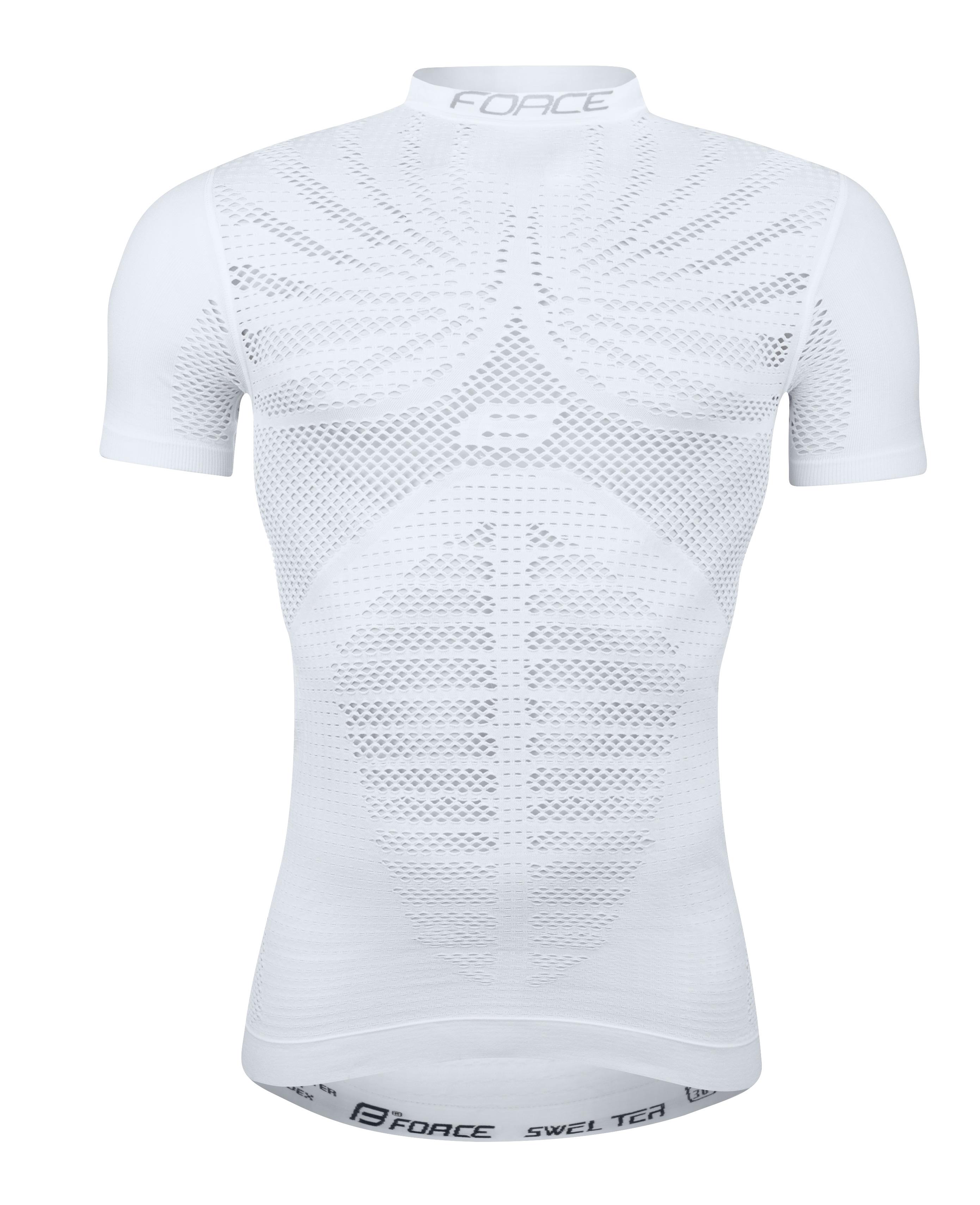 triko funkční FORCE SWELTER krátký rukáv, bílé M-L