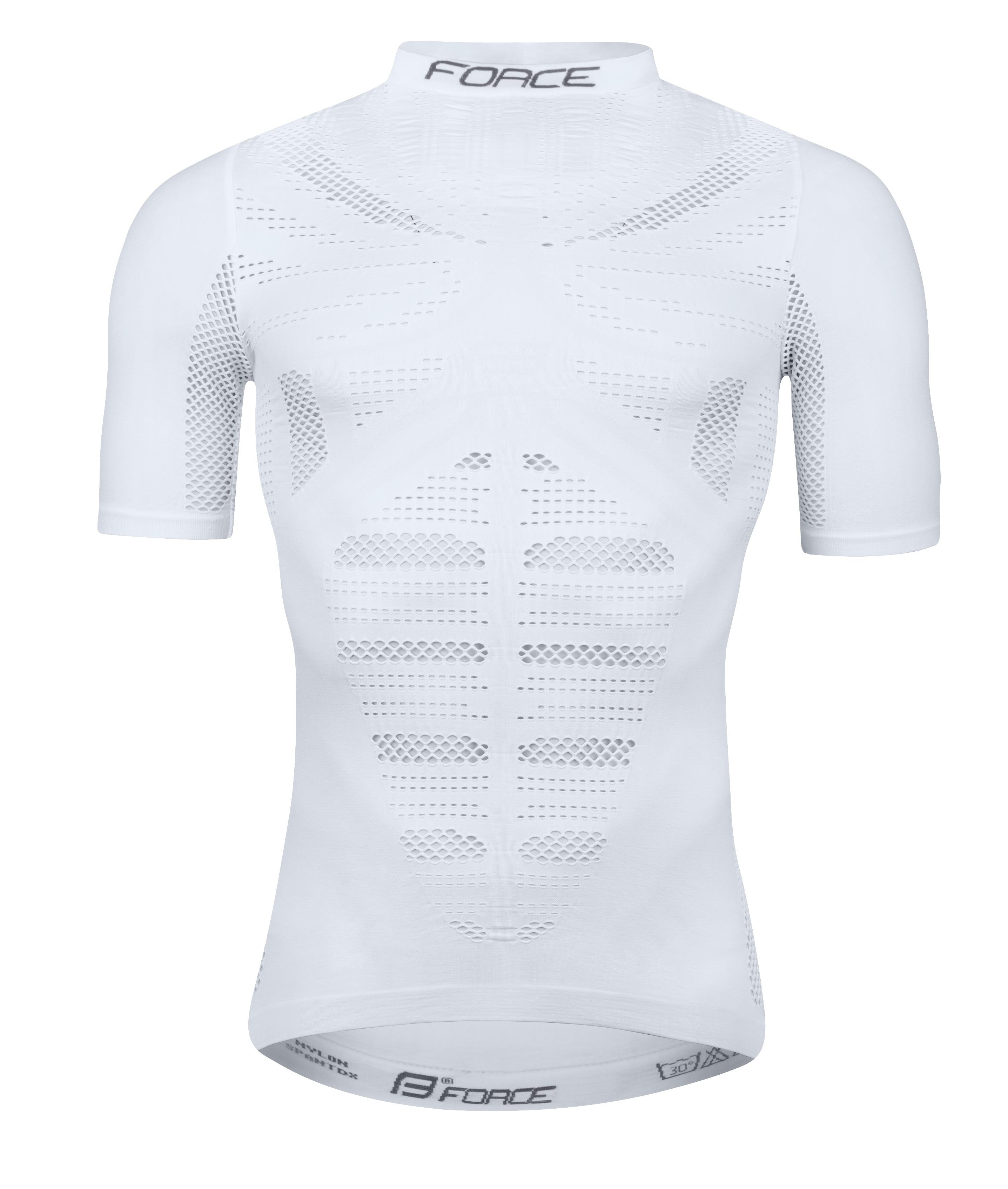triko funkční F WIND krátký rukáv, bílé M-L