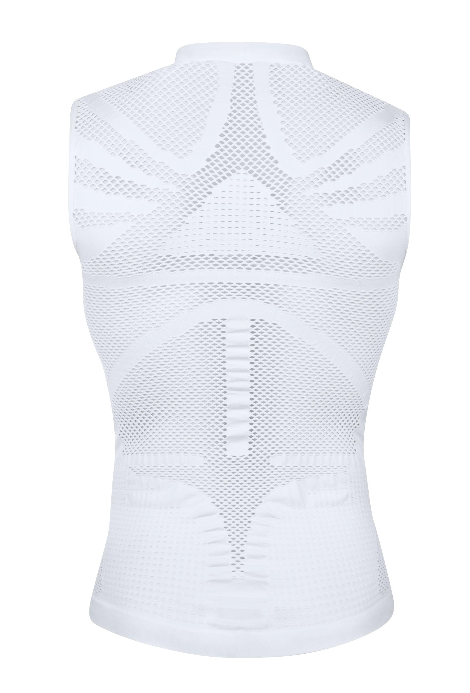 triko funkční FORCE HOT bez rukávů,bílé L-XL