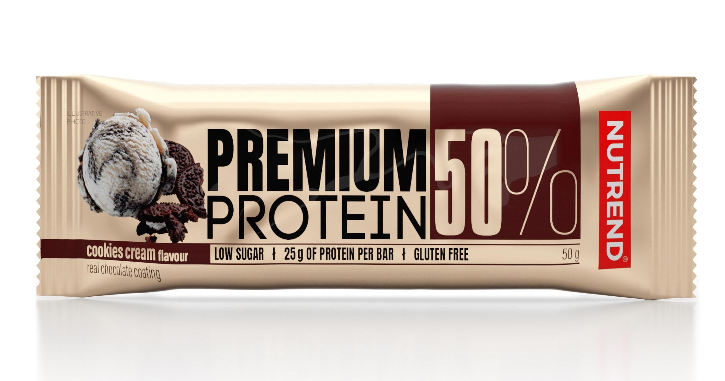 tyčinka PREMIUM PROTEIN 50 BAR 50 g cookies cream