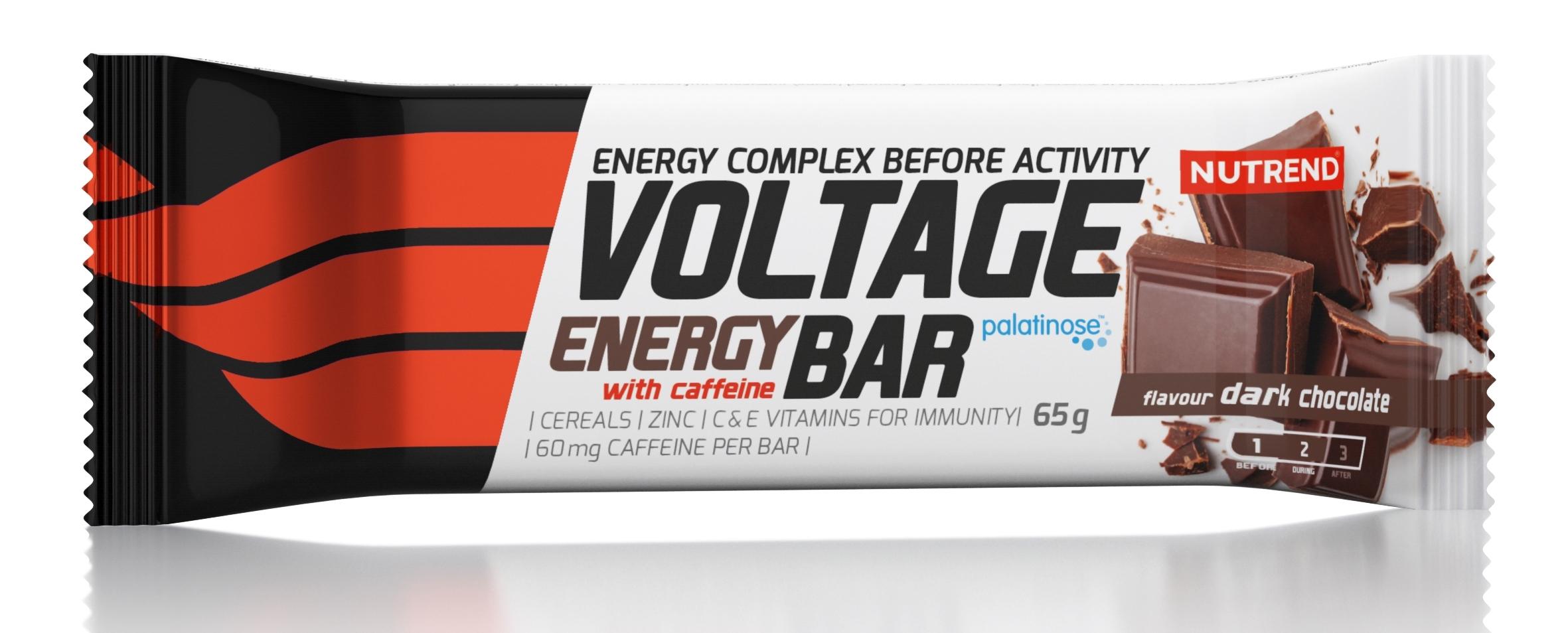 tyčinka VOLTAGE ENERGY BAR 65g s kof., h. čokoláda
