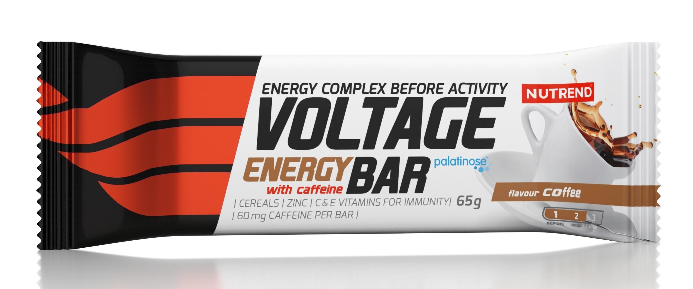 tyčinka VOLTAGE ENERGY CAKE 65g s kofeinem, káva