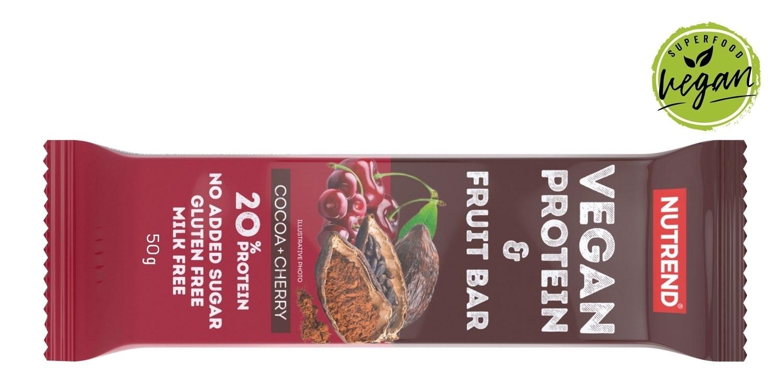 VEGAN PROTEIN FRUIT BAR 50 g kak.+třešeň-II.jakost