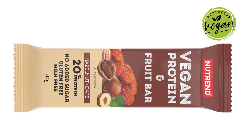 VEGAN PROTEIN FRUIT BAR 50 g lískový ořech+datle