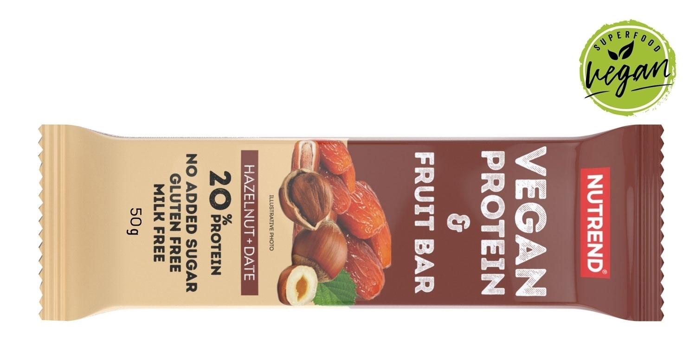 VEGAN PROTEIN FRUIT BAR 50 g ořech+datle-II.jakost