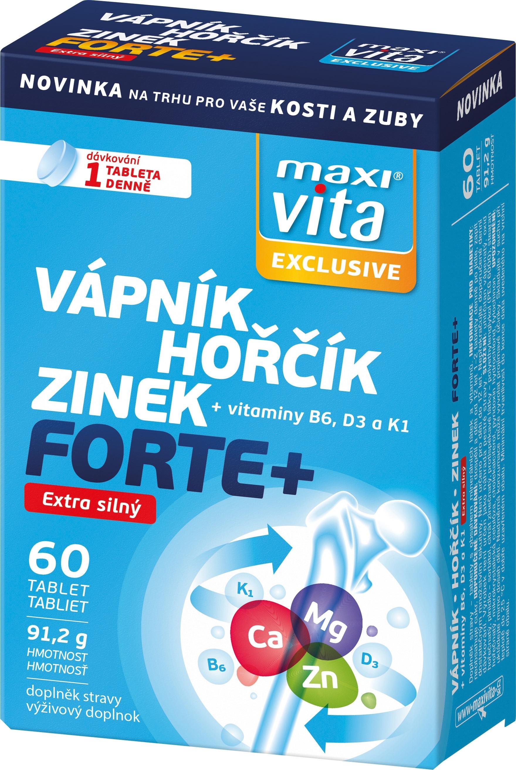VITAR-Maxivita Vápník, hořčík, zinek, 60 tablet
