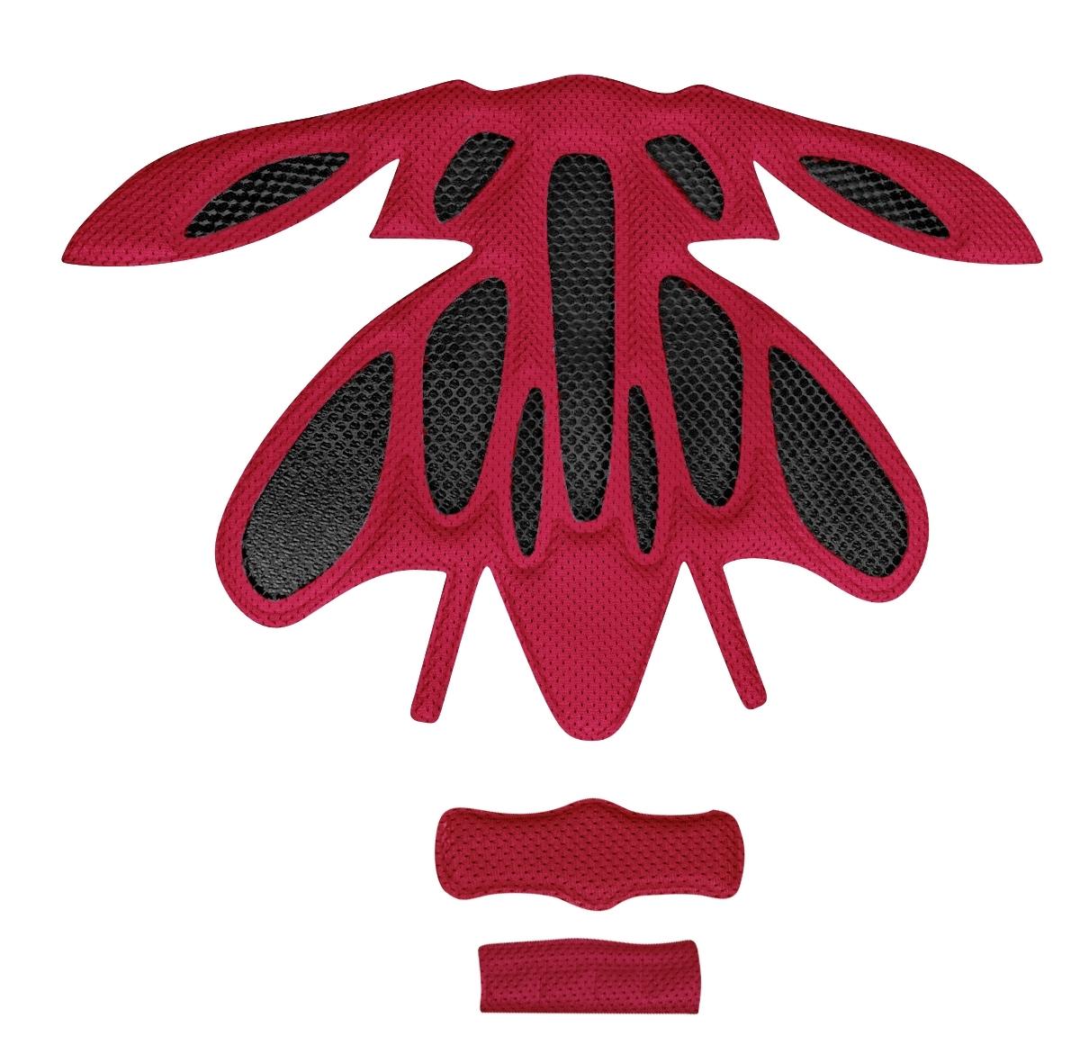 výstelka přilby FORCE ARIES, červená UNI