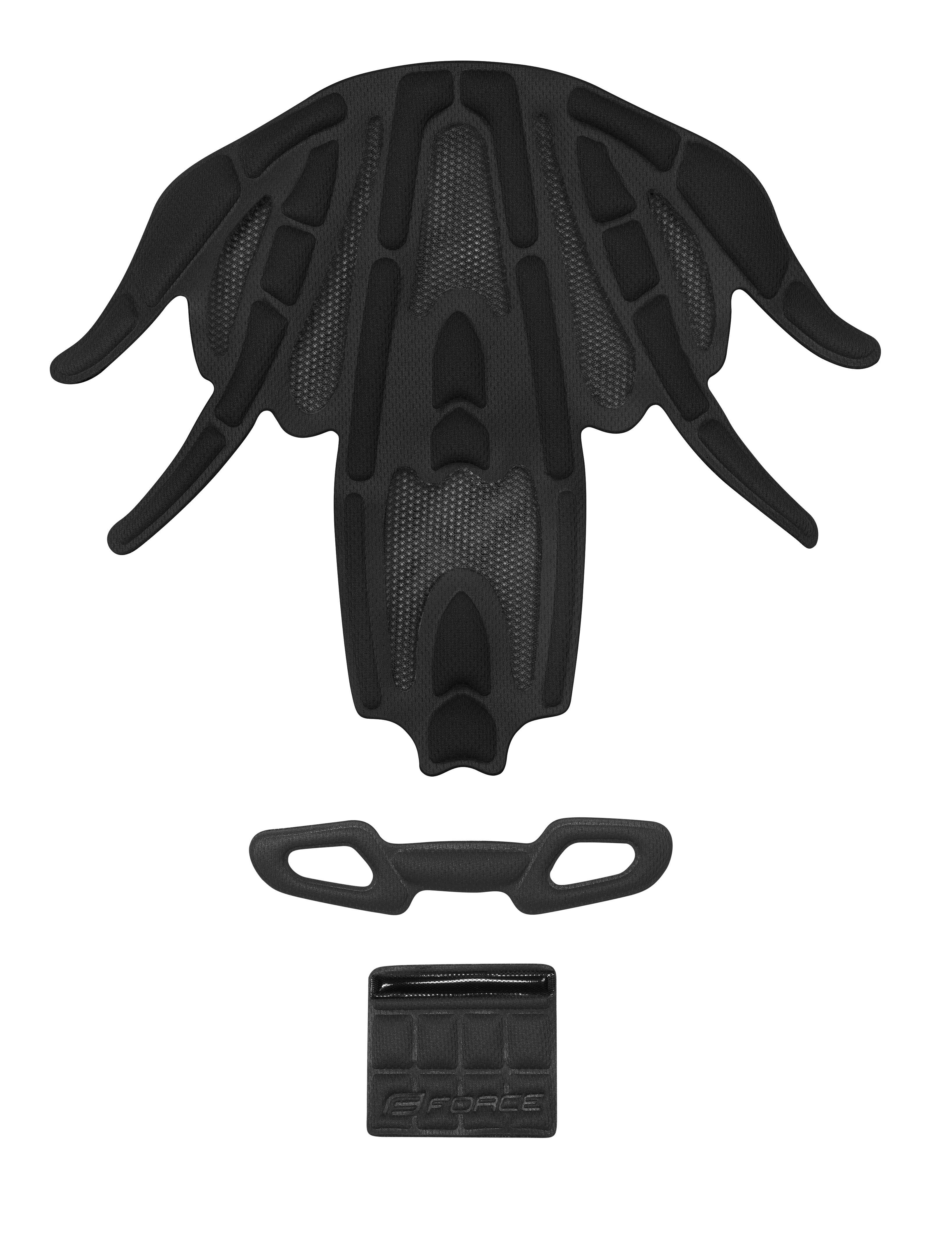 výstelka přilby FORCE REX , černá UNI 10mm