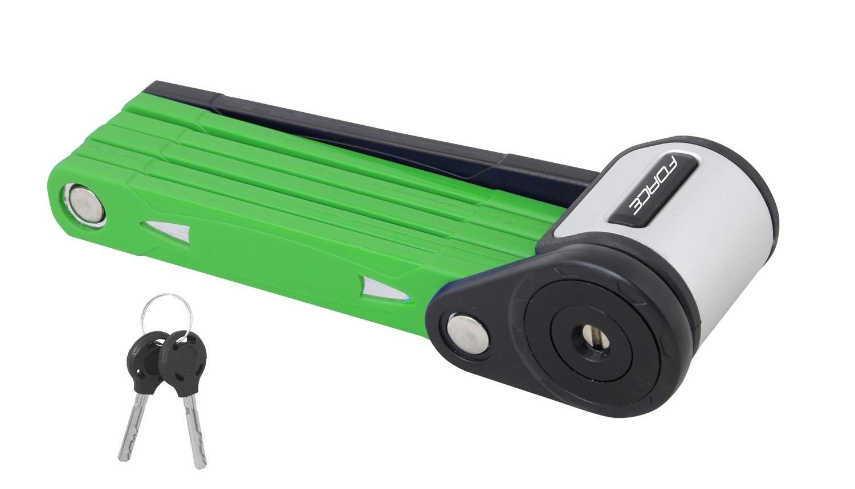 zámek FORCE FOLD skládací 80 cm, 6 článků, zelený